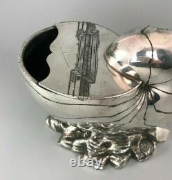 Victorian Silver Plated Nautilus Shell Spoon Warmer Atkin Brothers c1853 GFZX