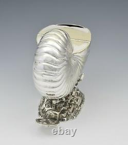 Victorian Silver Plated Nautilus Shell Spoon Warmer Roberts & Belk