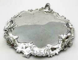 Vintage AMERICAN SILVER PLATE OLD SHEFFIELD REPRODUCTION CARD TRAY Corbell & Co