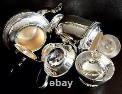 Vintage / Antique English Viners Alpha Plate Silver Plated Tea & Coffee Set