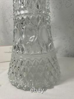 Vintage Glass Claret Wine Jug/Water Pitcher with Insert Glass and Silver Plated