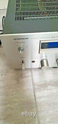 Vintage Pioneer SA-708 Stereo Amplifer Silver Plate Blue Light One Owner Unit