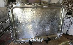 Vintage -Sheridan Silver Plate- Coffee & Tea Set On The Serving Tray