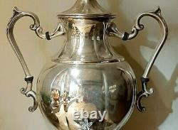 Vintage Silver Plated Coffee Urn Tea Hot Water Samover by Sheridan