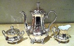 Wmf Germany Art Nouveau 5 Pc Silver Plate & Porcelain Lined Coffee/tea Set