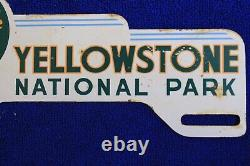 Yellowstone National Park Wyoming License Plate Topper Badge Emblem
