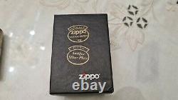 Zippo MARLBORO lighter ANTIQUE SILVER PLATE VERY RARE